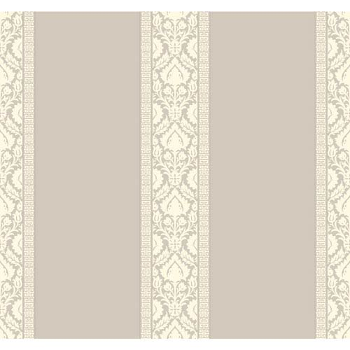 Waverly Stripes Gray Santa Maria Stripe Wallpaper: Sample Swatch Only