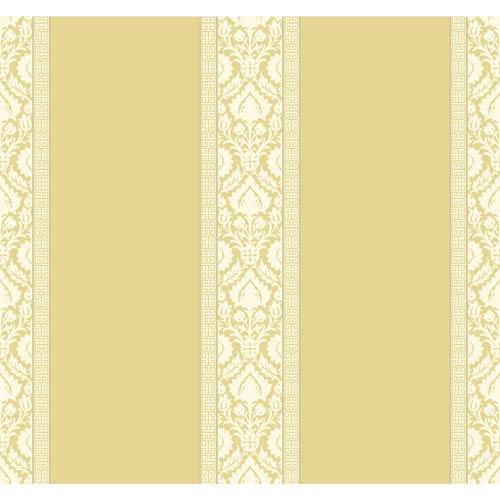 York Wallcoverings Waverly Stripes Yellow Santa Maria Stripe Wallpaper