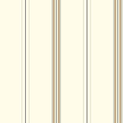 York Wallcoverings Waverly Stripes Harper Stripe Wallpaper: Sample Swatch Only