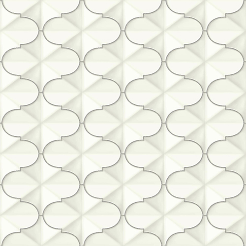 Ashford Whites Silver Geometric Wallpaper