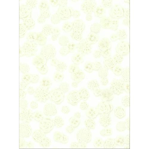 York Wallcoverings Ashford Whites Silver Floral Wallpaper