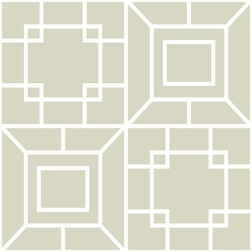 Ashford Whites Pearl Geometric Wallpaper