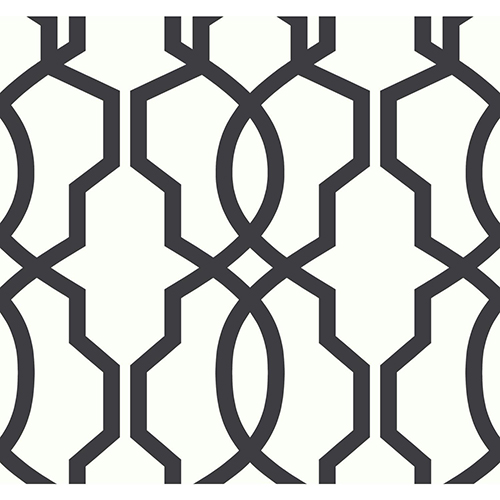 Ashford Whites Black Trellis Wallpaper