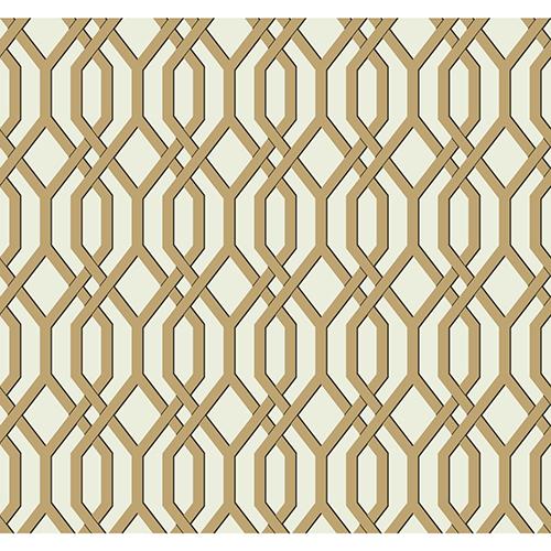Ashford Whites Gold Trellis Wallpaper