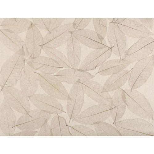 Ronald Redding Designer Resource Tan and Beige Grasscloth Natural Leaves Wallpaper: Sample Swatch Only