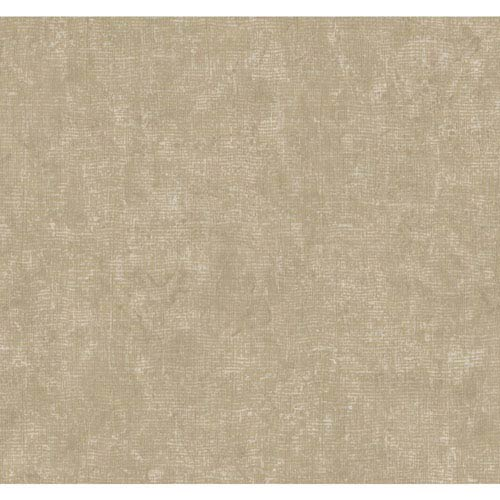 Ronald Redding Designer Damask Silver and Taupe Parchment Wallpaper