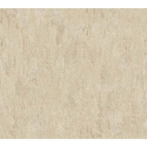 York Wallcoverings Weatherby Woods Taupe, Putty and Mocha Tan Stucco Damask Texture Wallpaper: Sample Swatch Only