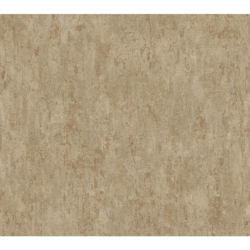 York Wallcoverings Weatherby Woods Brown, Charcoal and Copper Rust Stucco Damask Texture Wallpaper: Sample Swatch Only