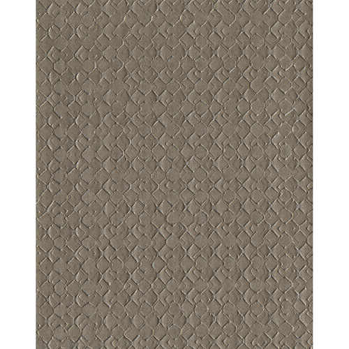 York Wallcoverings Design Digest Dark Brown Impasto Diamond Wallpaper - SAMPLE SWATCH ONLY