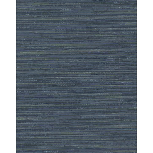 York Wallcoverings Design Digest Navy Fine Line Wallpaper