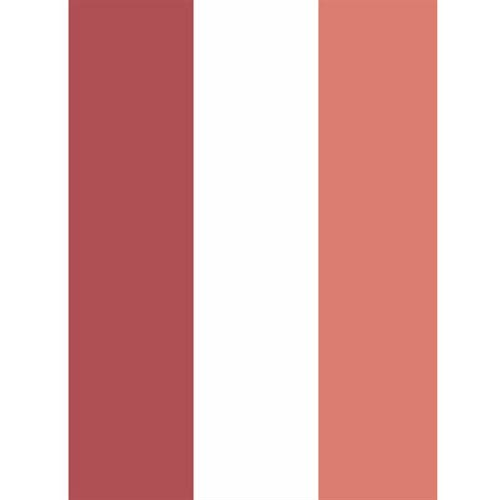 Ronald Redding Designs Stripes Resource Two Color Wide Stripe Red Wallpaper- Sample Swatch ONLY
