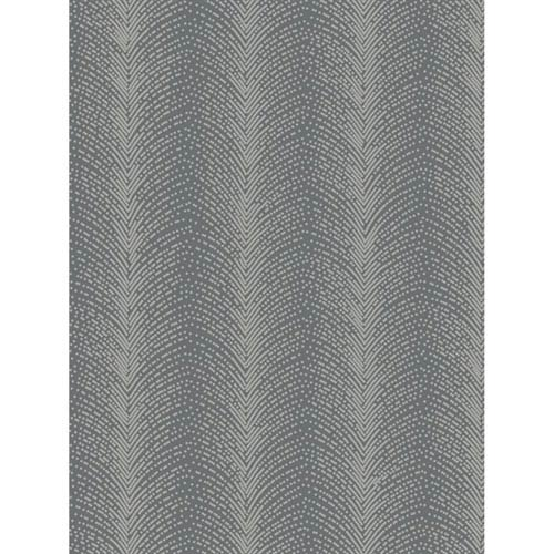 Ronald Redding Designs Stripes Resource Beaded Fountain Black Wallpaper