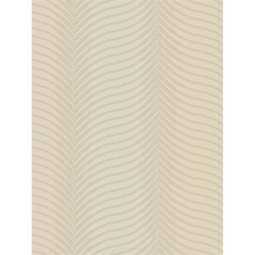 Ronald Redding Designs Stripes Resource Estacado Beige Wallpaper- Sample Swatch ONLY
