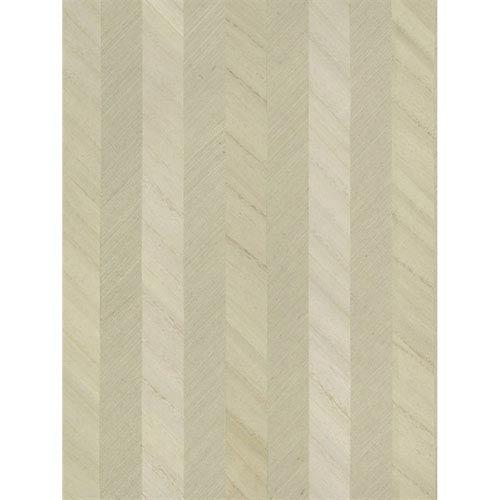 Ronald Redding Designs Stripes Resource Grass/Wood Stripe Green Wallpaper