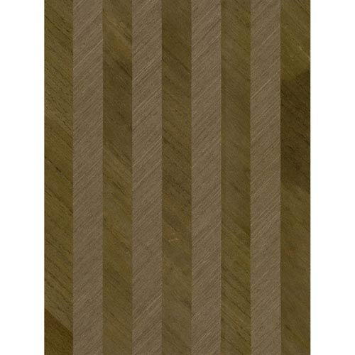 Ronald Redding Designs Stripes Resource Grass/Wood Stripe Brown Wallpaper