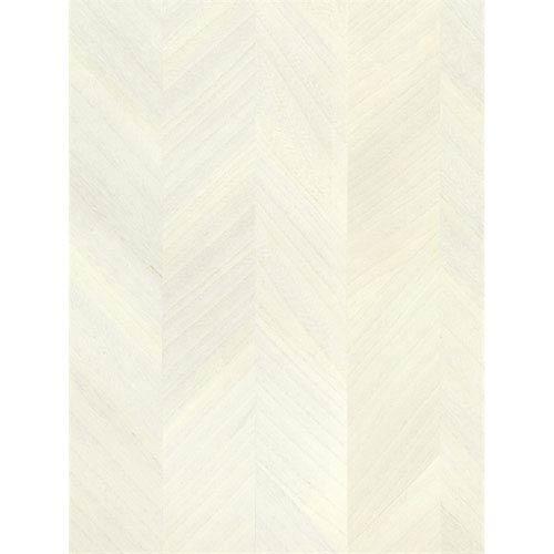 Ronald Redding Designs Stripes Resource Wood Veneer Off White Wallpaper