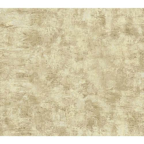 York Wallcoverings Texture Portfolio Cream and Beige Organic Texture Wallpaper: Sample Swatch Only