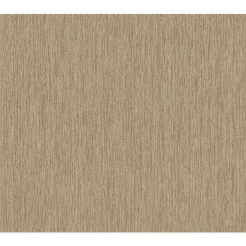 Texture Portfolio Gold and Taupe Raised Stria Texture Wallpaper: Sample Swatch Only