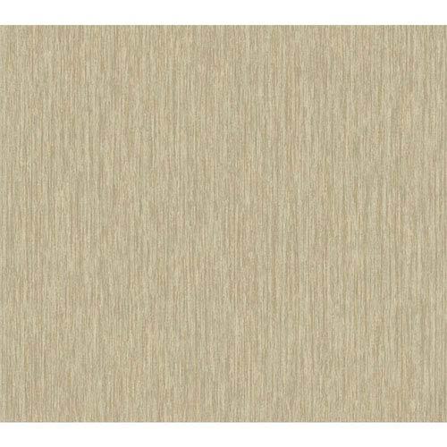 York Wallcoverings Texture Portfolio Beige and Tan Raised Stria Texture Wallpaper