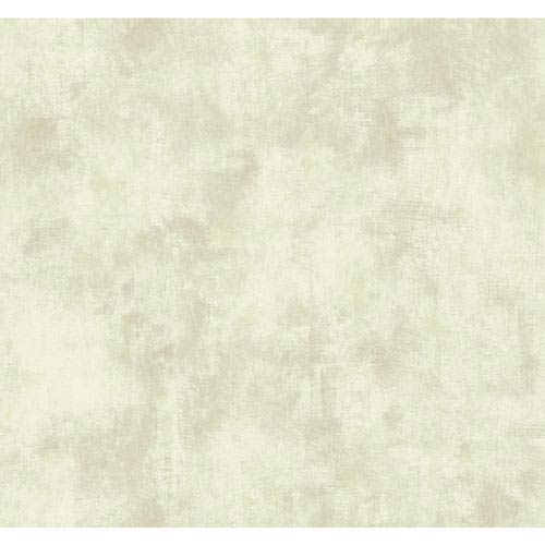 York Wallcoverings Texture Portfolio Cream White and Grey Shadows Wallpaper: Sample Swatch Only