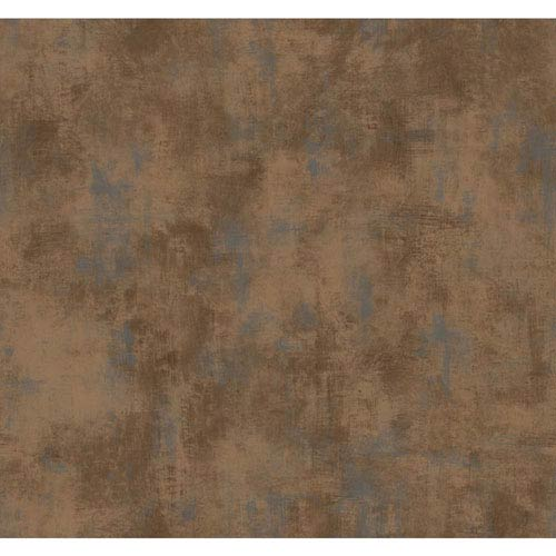 Texture Portfolio Cocoa and Silver Shadows Wallpaper: Sample Swatch Only