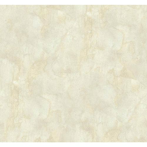 Texture Portfolio Cream and Fog Grey Antiqued Marble Wallpaper: Sample Swatch Only