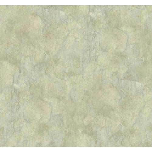 York Wallcoverings Texture Portfolio Cream and Pale Blue Antiqued Marble Wallpaper