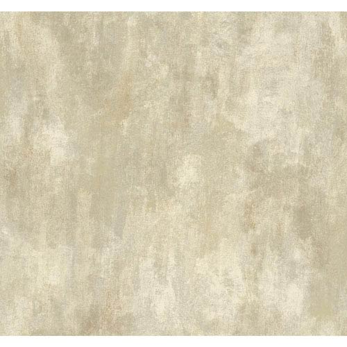 York Wallcoverings Texture Portfolio Cream and Grey Neo Classic Texture Wallpaper: Sample Swatch Only