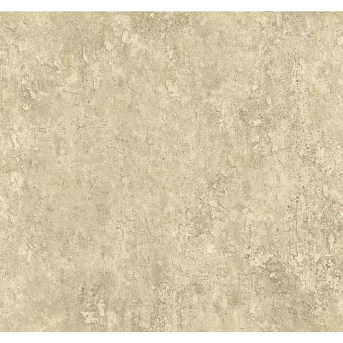 York Wallcoverings Texture Portfolio Beige and Cocoa Crackle Texture Wallpaper: Sample Swatch Only