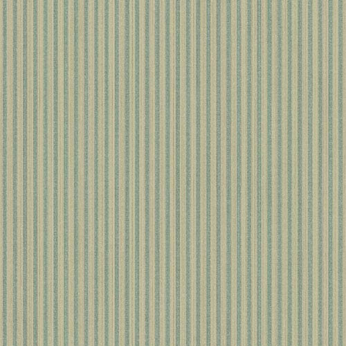 Texture Portfolio Cream and Metallic Teal Textural Fabric Stripe Wallpaper