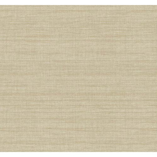 York Wallcoverings Texture Portfolio Gold and Grey Royal Linen Wallpaper