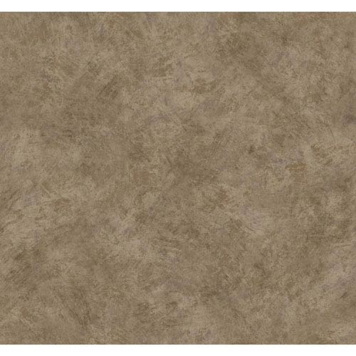 York Wallcoverings Texture Portfolio Cocoa and Dark Chocolate Brushstroke Texture Wallpaper: Sample Swatch Only