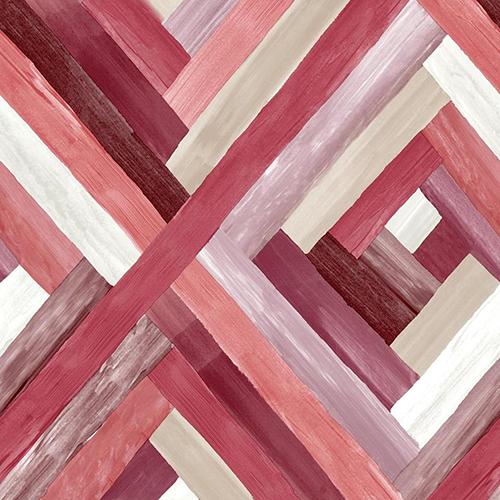 Modern Art Red Wynwood Geometric Wallpaper - SAMPLE SWATCH ONLY