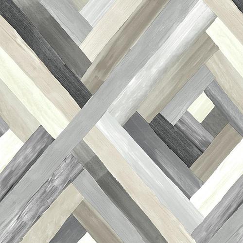 Modern Art Grey Wynwood Geometric Wallpaper