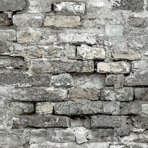 Modern Art Grey Brick Alley Wallpaper