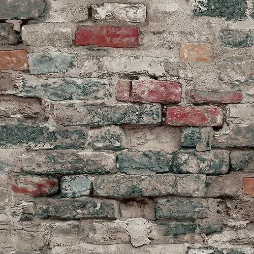 Modern Art Blue Brick Alley Wallpaper
