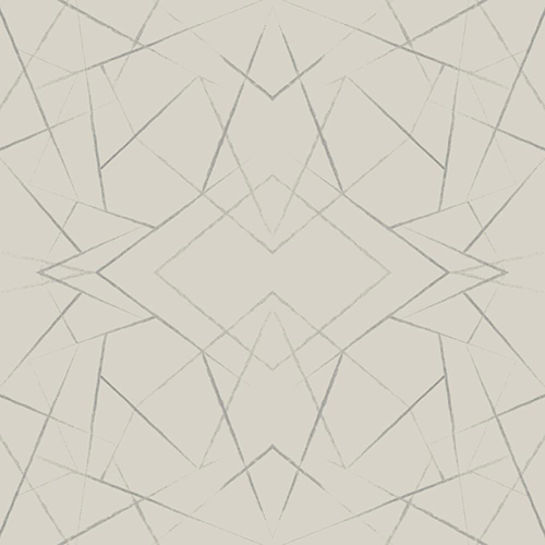 Modern Art Taupe Geo Diamond Wallpaper - SAMPLE SWATCH ONLY