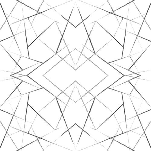 Modern Art Black Geo Diamond Wallpaper - SAMPLE SWATCH ONLY