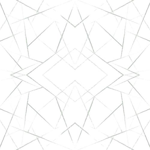Modern Art Green Geo Diamond Wallpaper