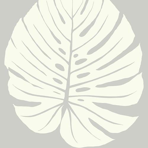 Aviva Stanoff Grey Bali Leaf Wallpaper