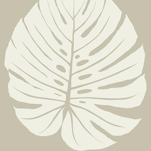Aviva Stanoff Tan Bali Leaf Wallpaper