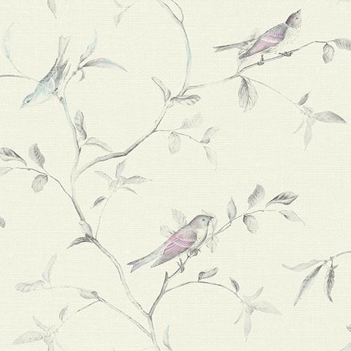 Patina Vie Fuchsia and Teal Wallpaper