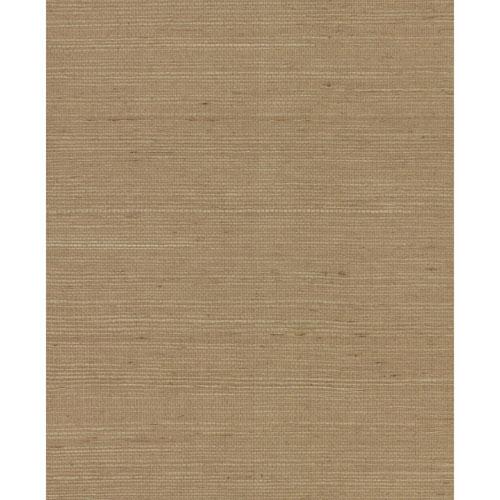 York Wallcoverings Grasscloth II Plain Grass Sisal Brown Wallpaper