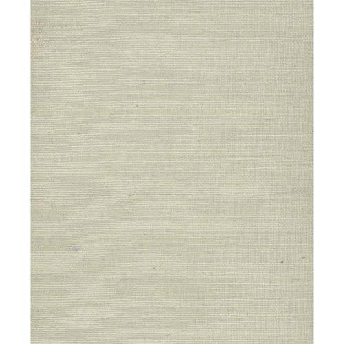 Plain Grass Blue and Beige Wallpaper