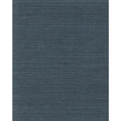 Magnolia Home Plain Grass Blue Wallpaper