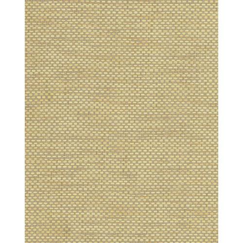 York Wallcoverings Grasscloth II Woven Crosshatch Beige Wallpaper - SAMPLE SWATCH ONLY