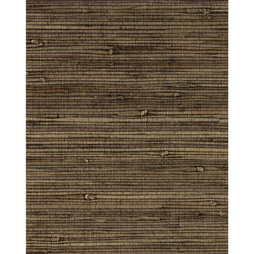 York Wallcoverings Grasscloth II Knotted Grass Brown Wallpaper - SAMPLE SWATCH ONLY