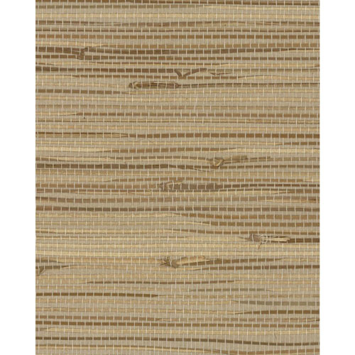 York Wallcoverings Grasscloth II Wide Knotted Grass Beige Wallpaper - SAMPLE SWATCH ONLY