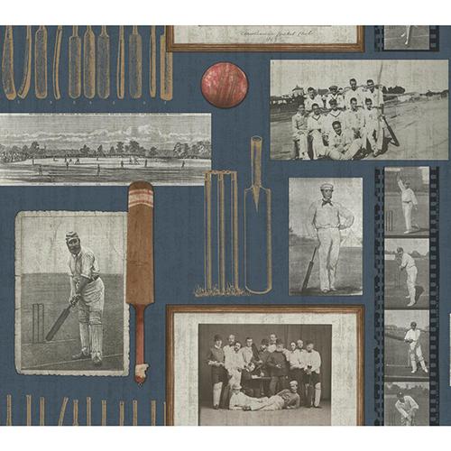 Snapshots Navy Blue Wallpaper