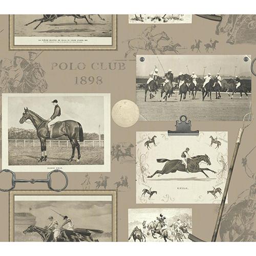 Snapshots Taupe Wallpaper